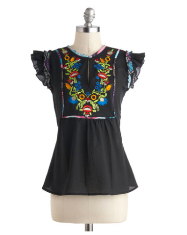 Artsy Afternoon Retro Top $49 @ MODCLOTH