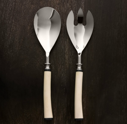 Natural White Bone 2-Piece Serving Set $40 (was $45)