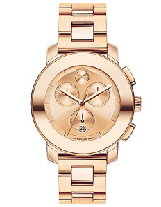Movado Bold Rose Gold Chronograph Watch ($850) Lord & Taylor
