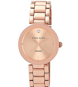 Anne Klein Rose Goldtone Link Watch $75 Dillards