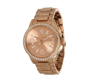 Juicy Couture Jetsetter Rose Gold-plated watch $295 Zappos
