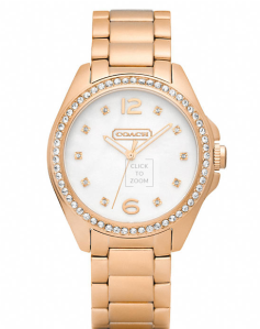 Tristen Rosegold Plated Crystal Watch @278 Coach