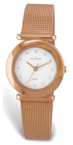 Skagen Gold-Tone with Swarovski Crystal Watch $110 Princeton Watches