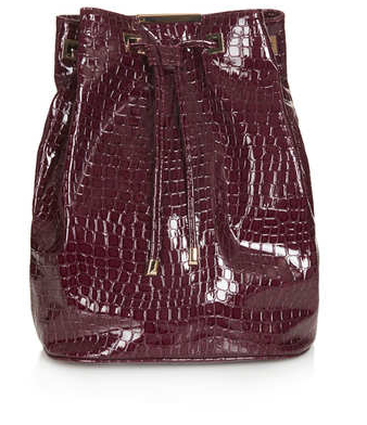 Patent Leather Croc Backpack $76 at TOPSHOP