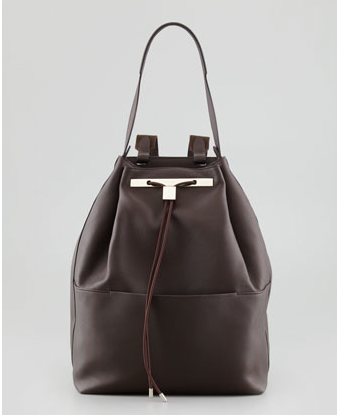 The Row Leather Drawstring Backpack $3,900 at BERGDORF GOODMAN