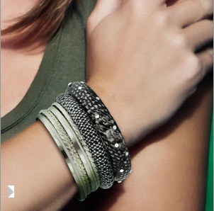 Set of 7 Black & Silver Bracelets $7 at JEWELRY.COM
