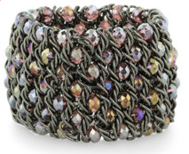Gray & Purple Crystal Stretch Bracelet $8 at JEWELRY.COM