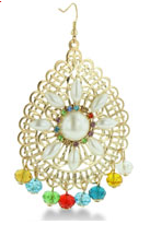 Crystal Gold-Tone Chandelier Earrings $6 at SUPERJEWELER
