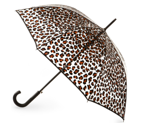 Leopard Clear Canopy Umbrella $30 at TOTES