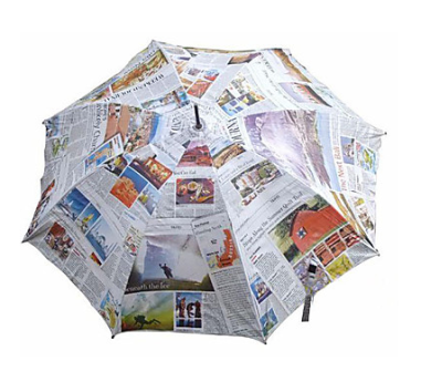 Newspaper Pattern Umbrella $33 at LIGHT IN THE BOX