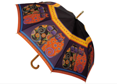"Laurel Burch ""Feline Family Portrait"" Umbrella $25 at OVERSTOCK"