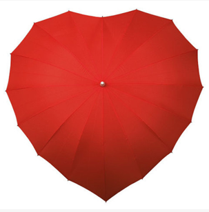 Heart-Shaped Umbrella $50 at VIOLA