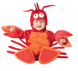 Little Lobster Baby Costume $50 at SPIRIT HALLOWEEN
