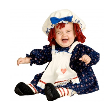Raggedy Ann Baby Costume $28 at JUST KID COSTUMES
