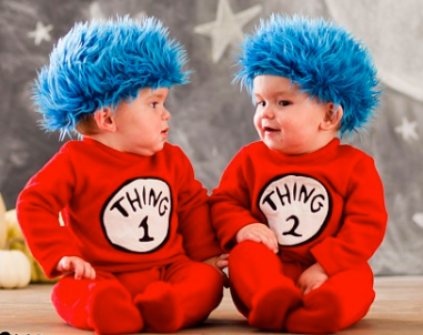 Thing 1 & Thing 2 Baby Costume $39 at POTTERY BARN KIDS
