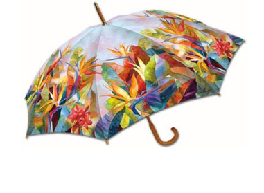La Selva Birds of Paradise Umbrella $19 at EXECUTIVE ESSENTIALS