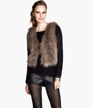 Faux Fur Vest  $34.95 at H&M