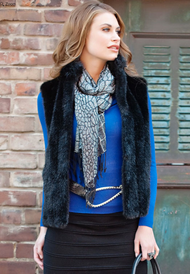 Black Mink Faux Fur Signature Vest $129 at Fabulous Furs