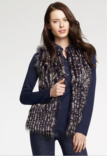 Faux Fur Vest $99 sale at Anne Klein
