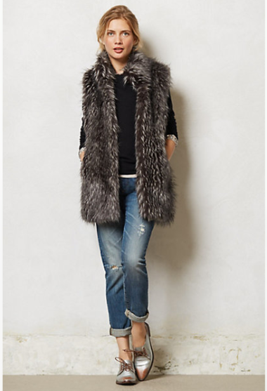 Vegan Faux Fur Vest  $228 at Anthropologie