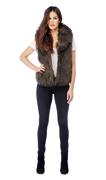 Davorah Faux Fur Vest $70 at BB Dakota