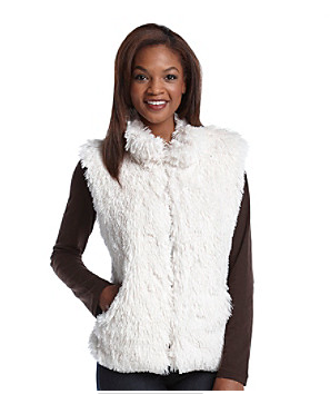 Cejon Shaggy Faux Fur Vest $66 at Bergners