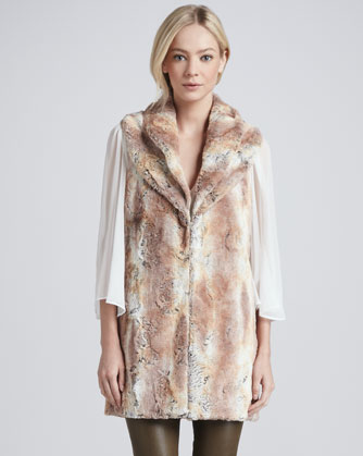 Alice + Olive Annistyn Long Faux Fur Vest $368 at Cusp