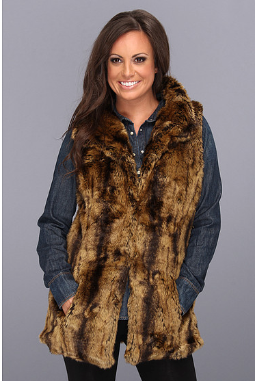 Tash Polizzi Bear Blanket Faux Fur Vest (with reversible fabric interior) $189 on sale at Zappos