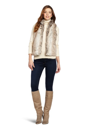 Parkhurst Nathalie Faux Fur Vest $98 at Amazon