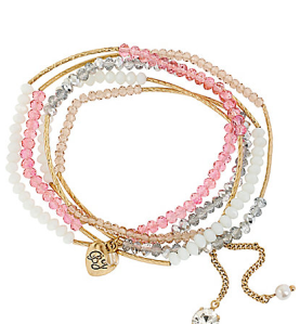 Pink Bead Wrap Bracelet $45 at Betsey Johnson