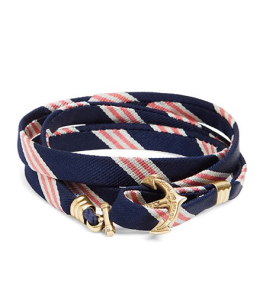 Kiel James Patrick Stripe Wrap Bracelet $48 at Brooks Brothers