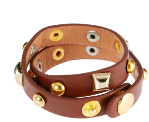 Ashiana Leather Wrap Bracelet with Studs $25 at ASOS