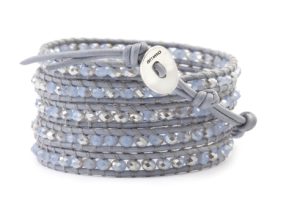 Crystal & Leather Wrap Bracelet  $170 at Chan Luu