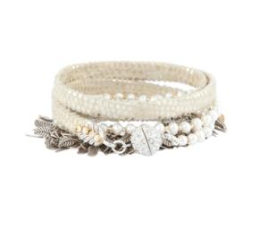 Judy Kaye Pearl & Silver Wrap Bracelet $275 at Halsbrook