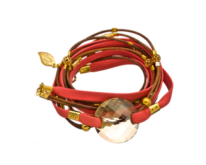 Sara Designs Red Crystal Triple Wrap Bracelet $170 at Max & Chloe