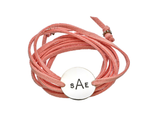 Jenny Present Pink Lauren Wrap Bracelet $85 at Max & Chloe
