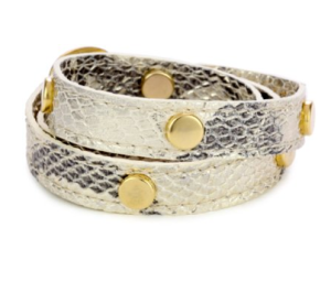 "Lalucca ""Gia"" Nepal Triple Gold Stud Gold Wrap Bracelet $75 at Amazon"