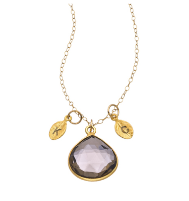 Alvina Abramova Drop & Initial Pendant Necklace $98 at Max & Chloe