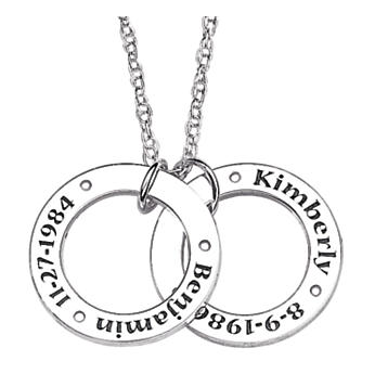 Personalized Circle Pendants Necklace $99 at Midnight Velvet