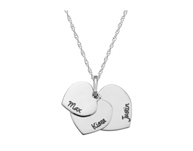 Aria Personalized Heart Necklace $125 at JCPenney