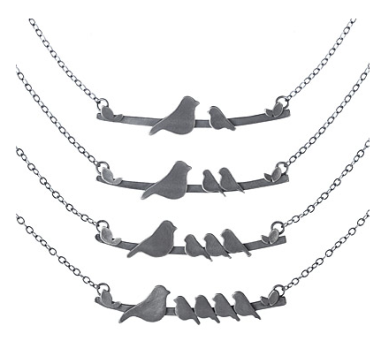Mother Nesting Birds Necklace $70+ at Uncommon Goods