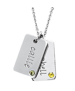 Posh Mommy Engraveable Dog Tag Pendant $75 at Apples of Gold