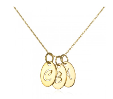 14kt Gold Alpha Tag Necklace $673 at Charm & Chain