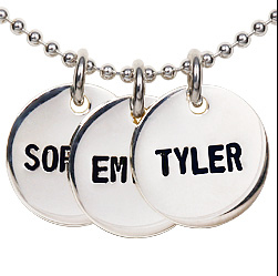 Sterling Silver Disc Name Necklace $110+ at Dillon Rogers