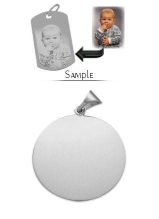 Sterling Silver Holographic Photo Charm Necklace $212+ at Elite Jewels