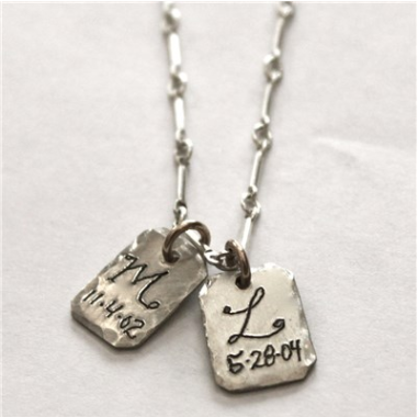Silver Initial Personalized Necklace $130 at Layla Grace