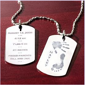 Baby Hand & Foot Print Pendant (no necklace) $30 at Personal Creations