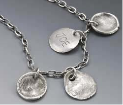Fingerprint Collection Necklace  $102+ at CHINABERRY