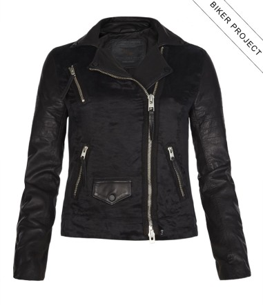Landers Leather Biker Jacket $878 at All Saints