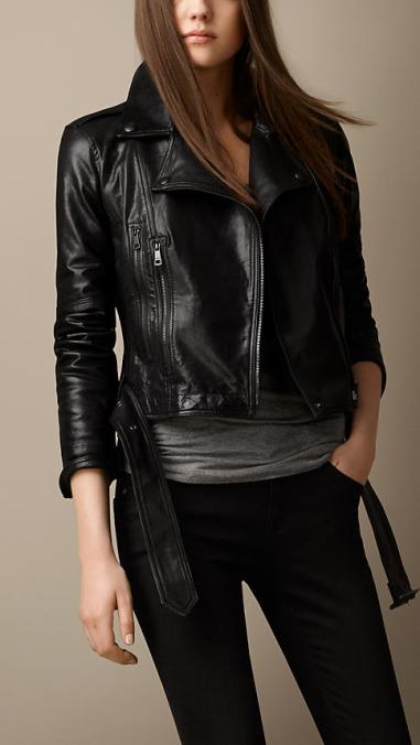 Burberry Brit Trench Belt Leather Biker Jacket $1,795.00 at Burberry